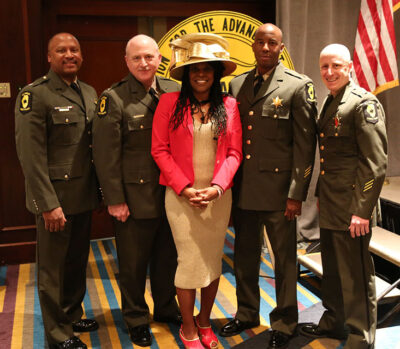 President Haley and Illinois State Police Officers