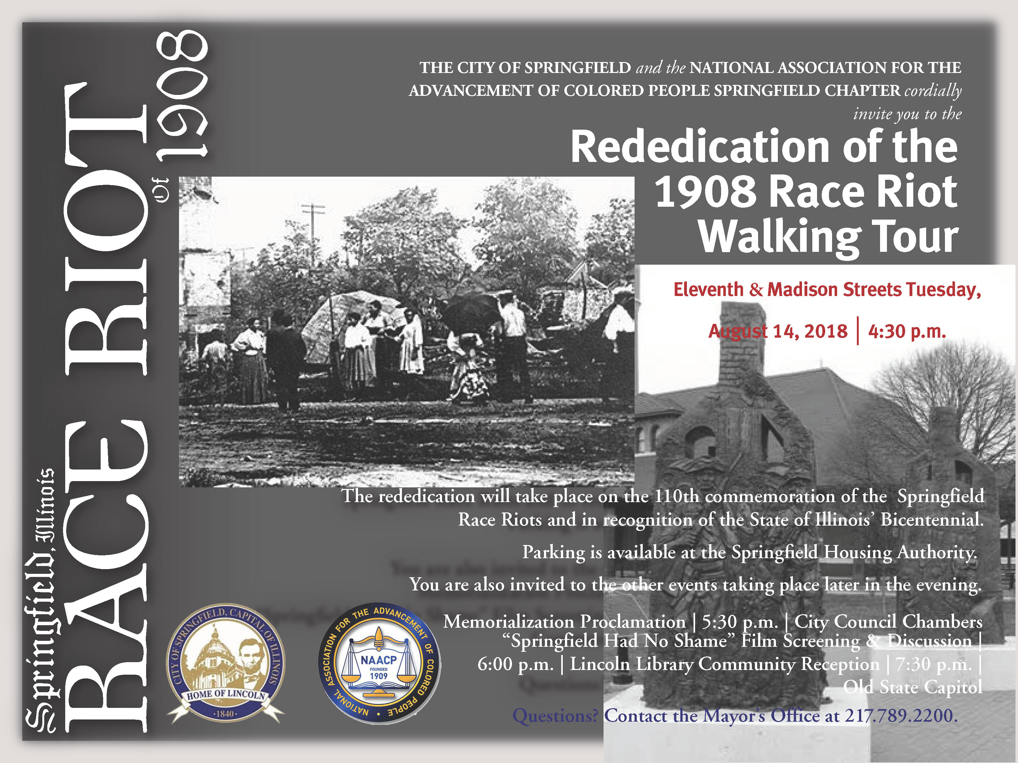 Redeication of the 1908 Race Riot Walking Tour